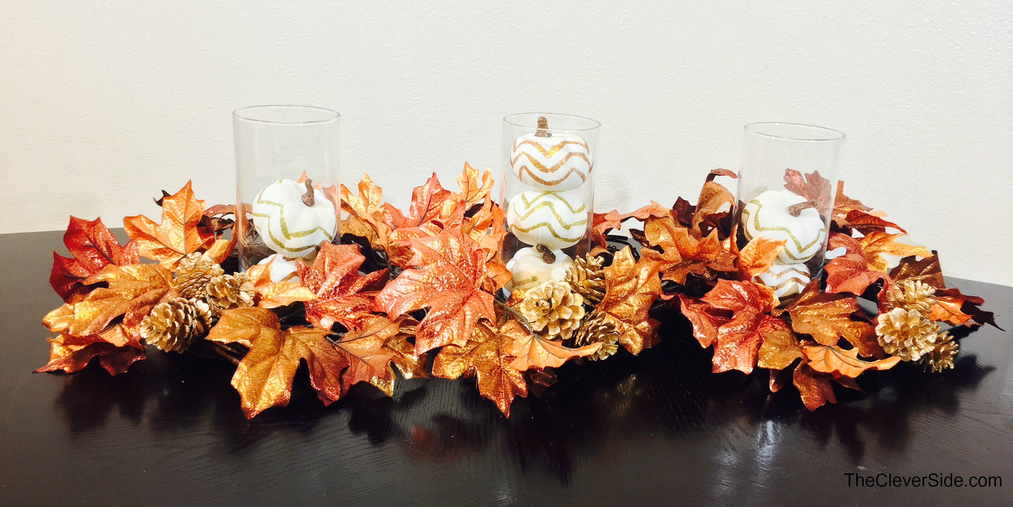 Diy Fall Centerpiece The Clever Side