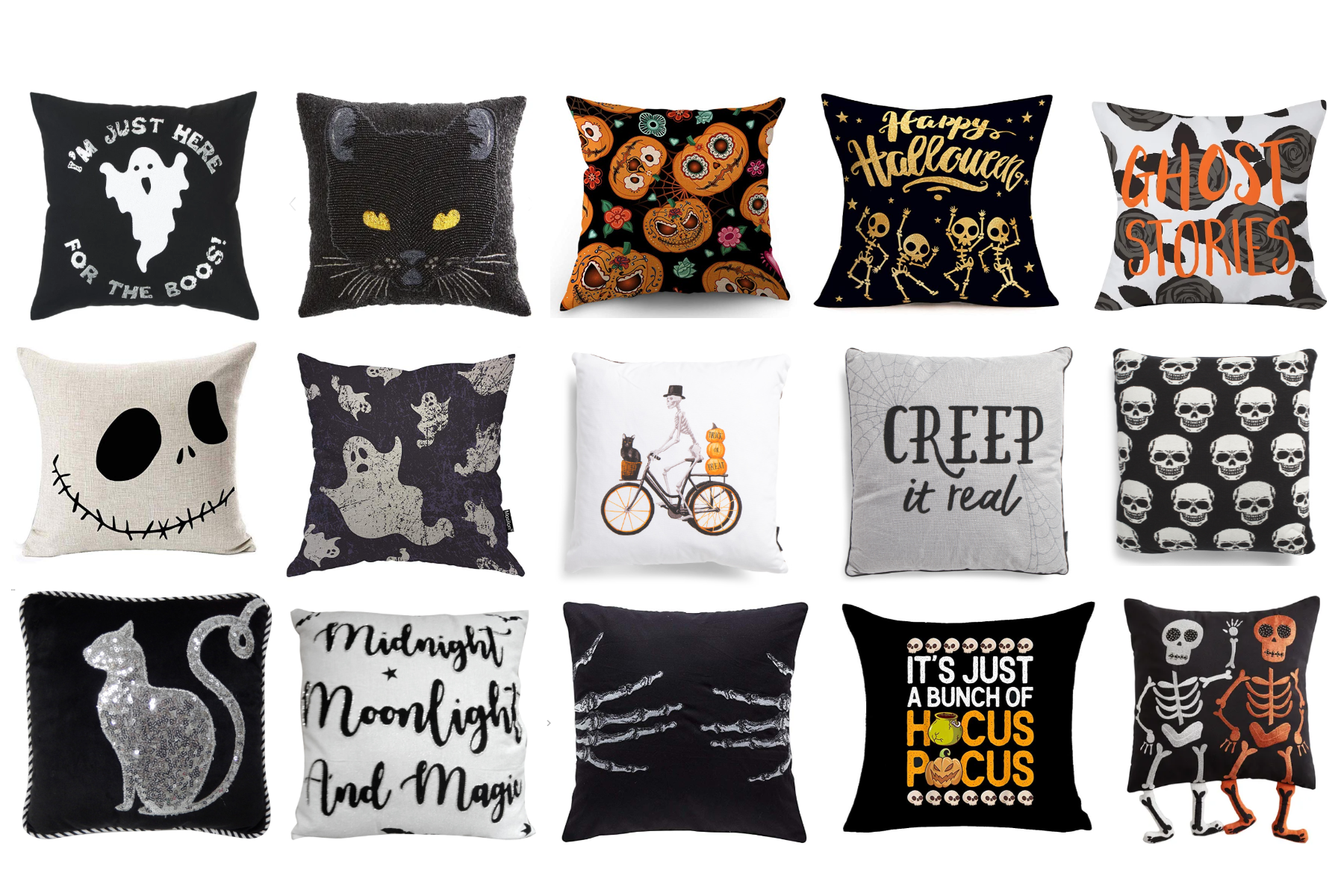80 Spooky Cute Halloween Pillows Covers The Clever Side