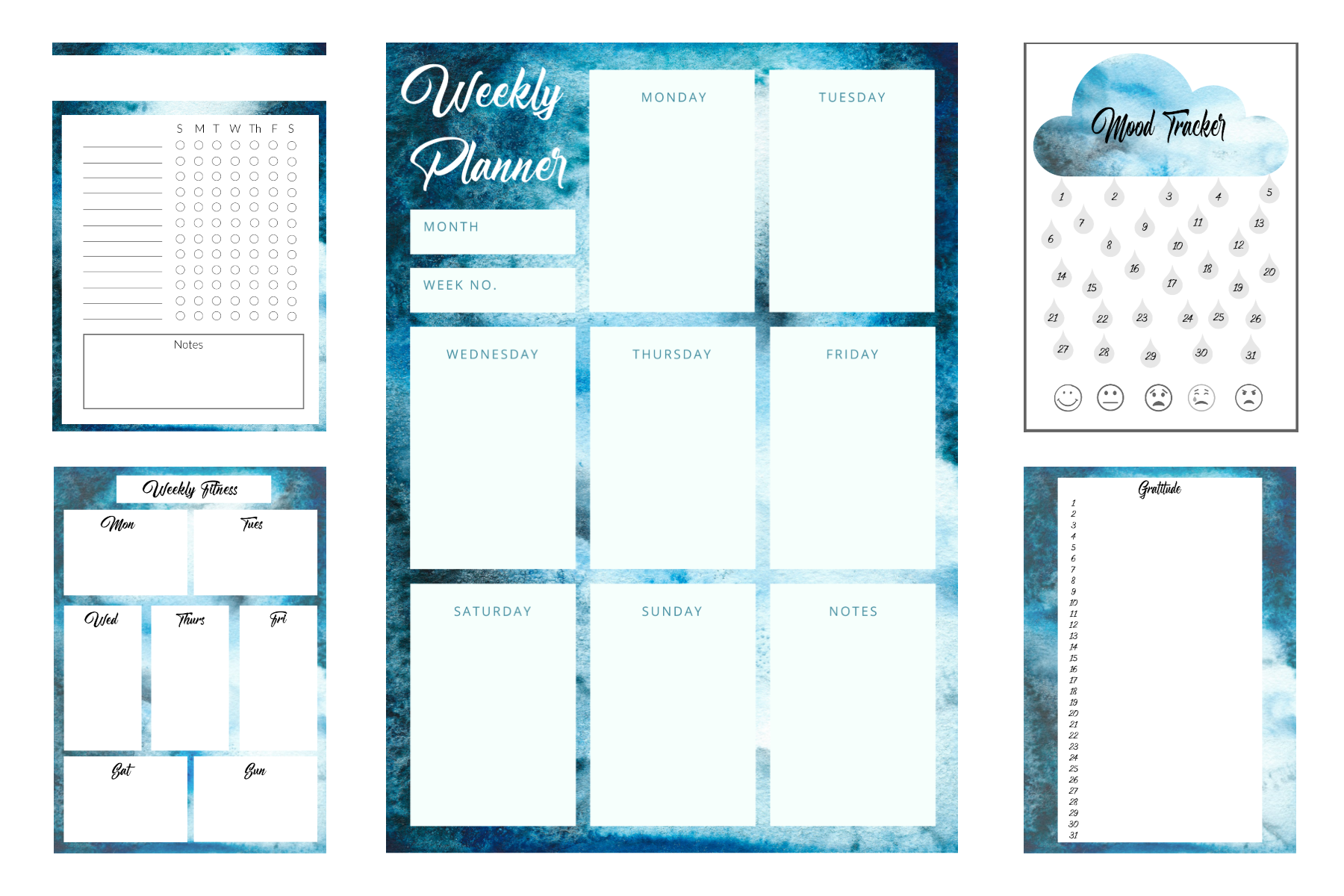 15 Free Watercolor Bullet Journal Printables The Clever Side